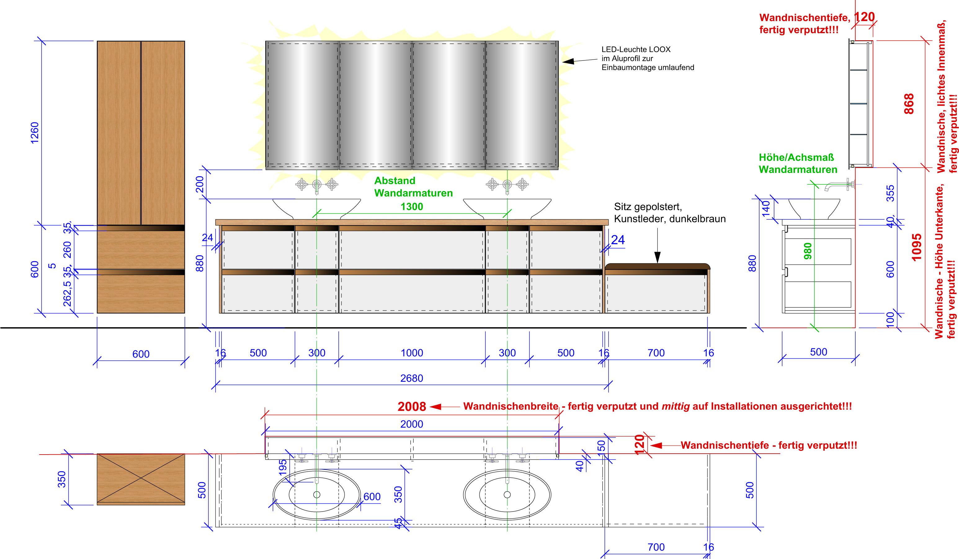 3D Planung Bad Schreinerei Kinateder Hundsdorf Passau